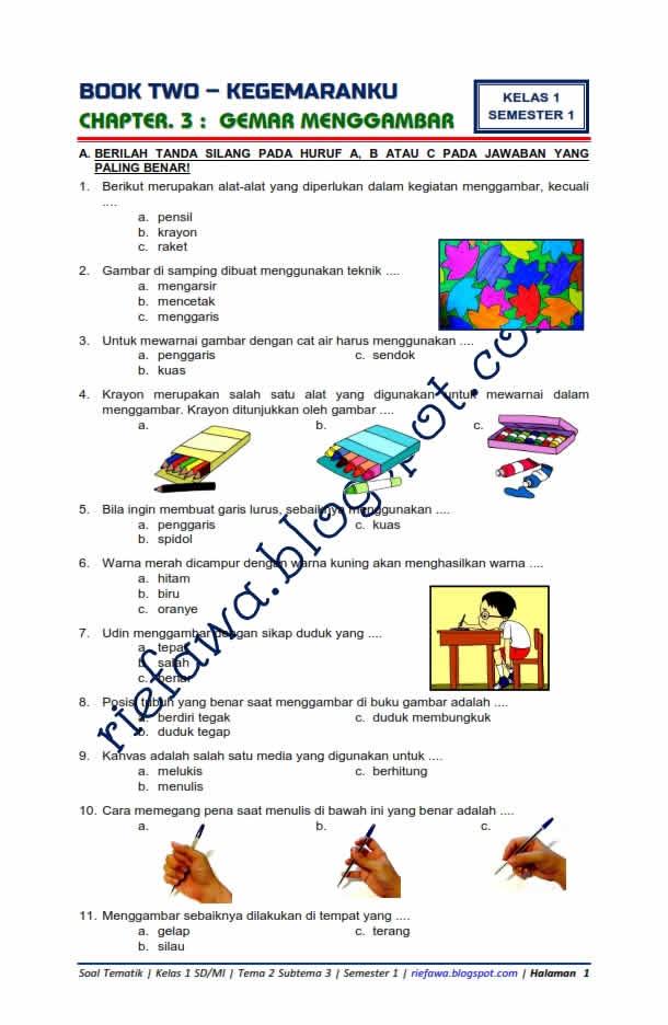 Rpp Kurikulum 2013 Sd Kelas 1 Tema 2 Kegemaranku : kurikulum, kelas, kegemaranku, Tematik, Kelas, Subtema, Kegemaranku, Gemar, Menggambar, Kurikulum, Terbaru, Dunia, Edukasi