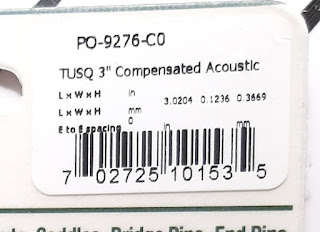 "Tusq PO-9276-CO 3"" Compensated Acoustic Saddle Product Info"