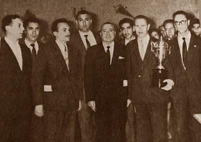 Equipo de ajedrez del Chardenet en 1960