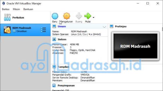 Cara Instal VDI RDM