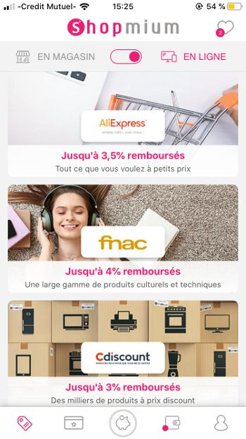 Shopmium en ligne