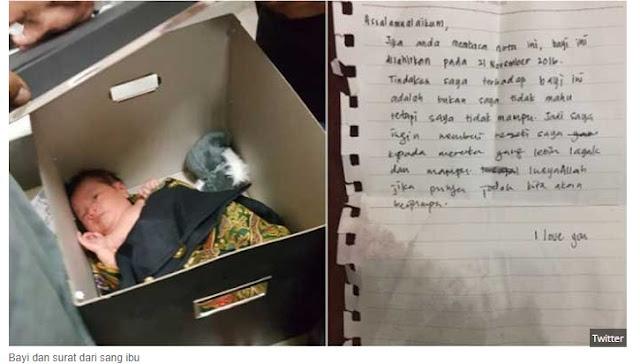 Orang Tua Buang Bayinya Di Masjid. Hanya Tinggalkan Sepucuk Surat. Isinya Mengejutkan