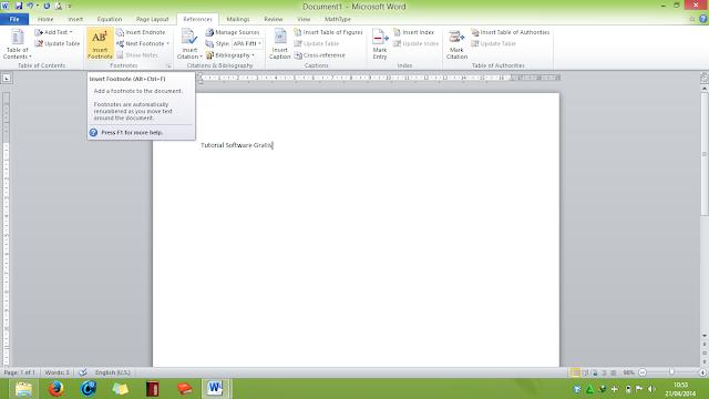 Cara Membuat Footnote (Catatan Kaki) di Microsoft Word