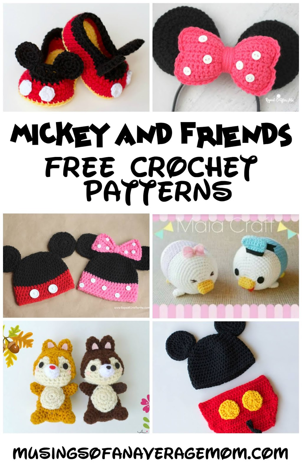 33+ Best Free Crochet Minnie Mouse Doll Pattern - crochetnstyle.com | 1600x1024