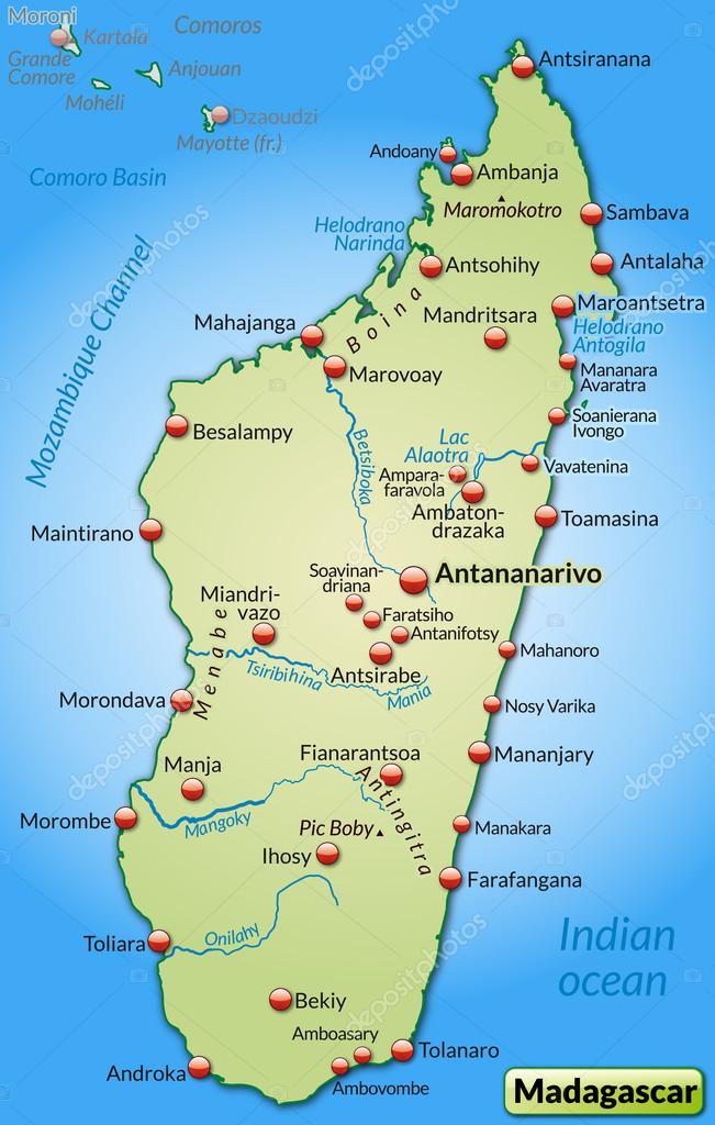 Isla De Madagascar Mapa.Islas Del Mundo Madagascar
