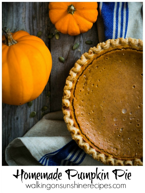Pumpkin Pie from Scratch from Walking on Sunshine Recipes