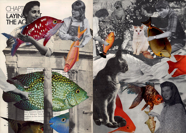 Collage from Go Fish altered book