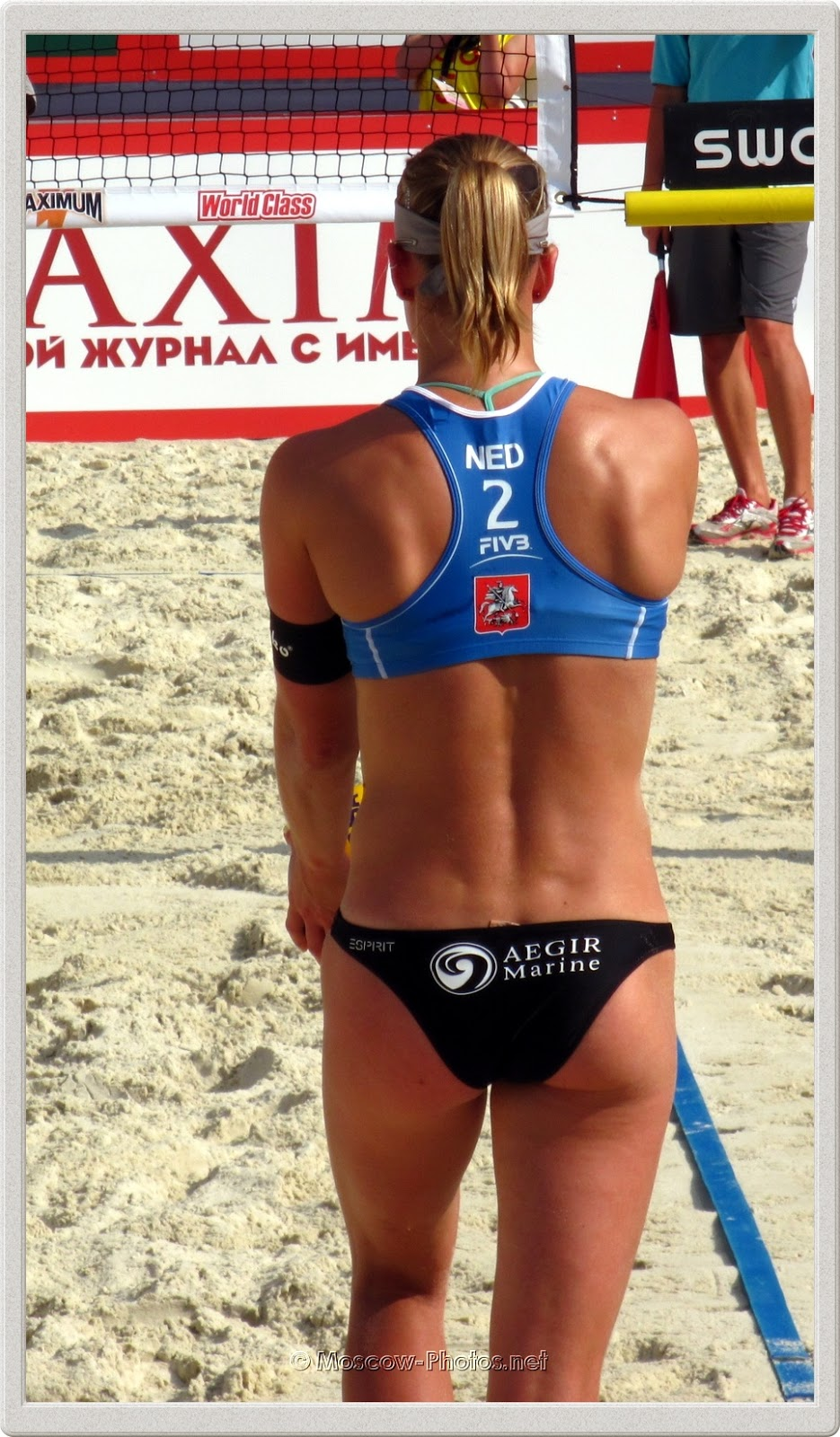 Dutch Beach Volleyball Player Jantine van der Vlist