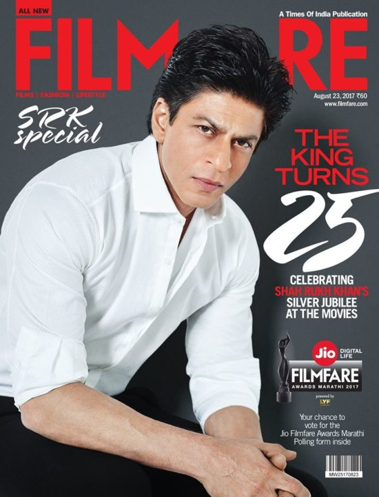 Shahrukh Khan On The Cover of Filmfare Magazine August 2017