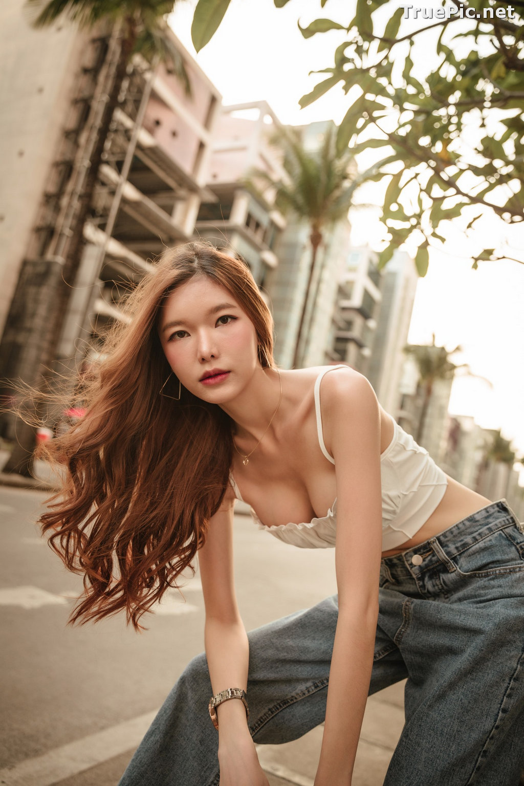 Image Thailand Model - Pierreploy Intira - Sunset with Beautiful Girl - TruePic.net - Picture-2
