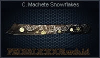 Combat Machete Snowflakes