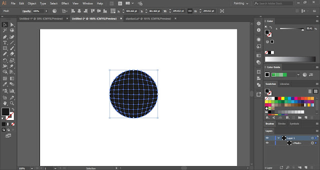 Gradient Mesh Tool in Adobe Illustrator