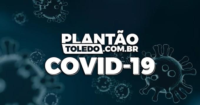 Sem óbitos, Toledo registra 46 novo casos e 42 pessoas recuperadas da Covid-19