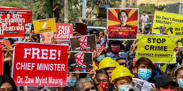 PBB Kutuk Kekerasan Di Myanmar, Desak Militer Bebaskan Tahanan Politik