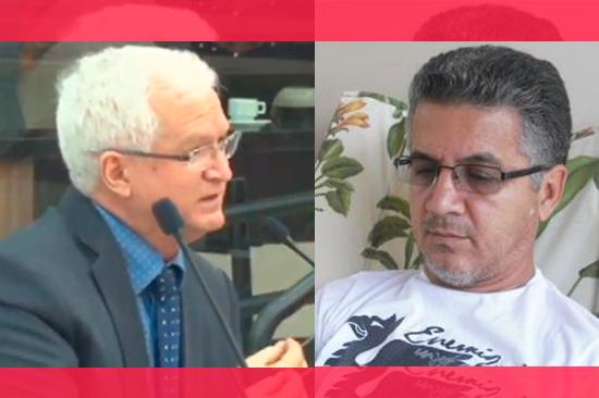 O vereador Mariucci e o ex-secretário Eudes Januário