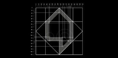 Imagem mostrando todo o desenho técnico da construção do elemento figurativo.