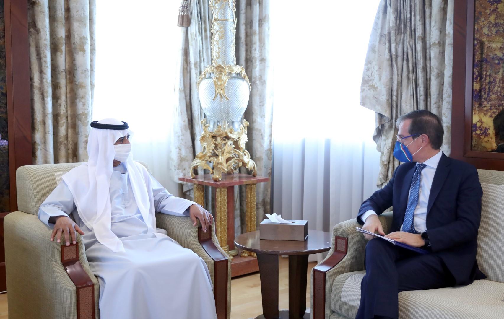 Nahyan bin Mubarak discusses cooperation with Italian Ambassador
