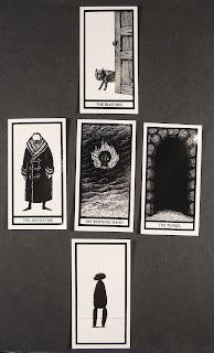 A set of Gorey-themed tarot cards.
