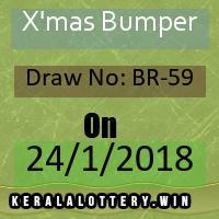 X'mas New year Bumper Kerala Lottery BR-59