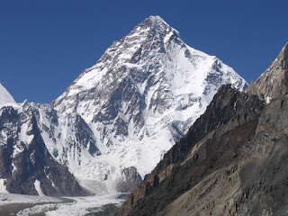 Photo of K2 mountain in the Himalayas