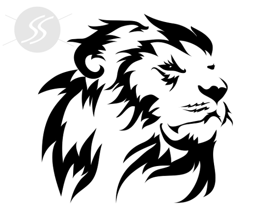 Adesivo decorativo Leão Hasta