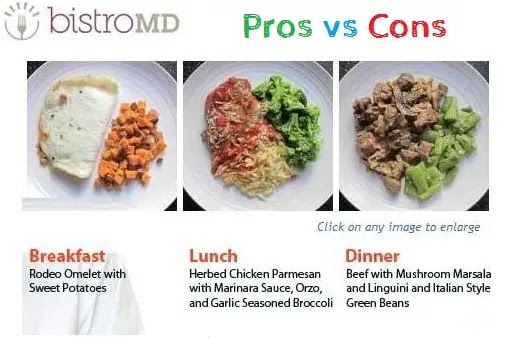 3. BistroMD Weight Loss Meal Delivery - Pros vs Cons