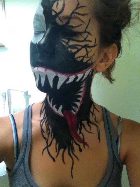 Rusted Mecha: Venom Cosplay Face Paint