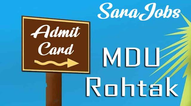 MDU Admit Card
