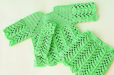 2 - Crochet IMAGEN Pantalón a juego con chambrita a crochet muy fácil y rápida. MAJOVEL CROCHET
