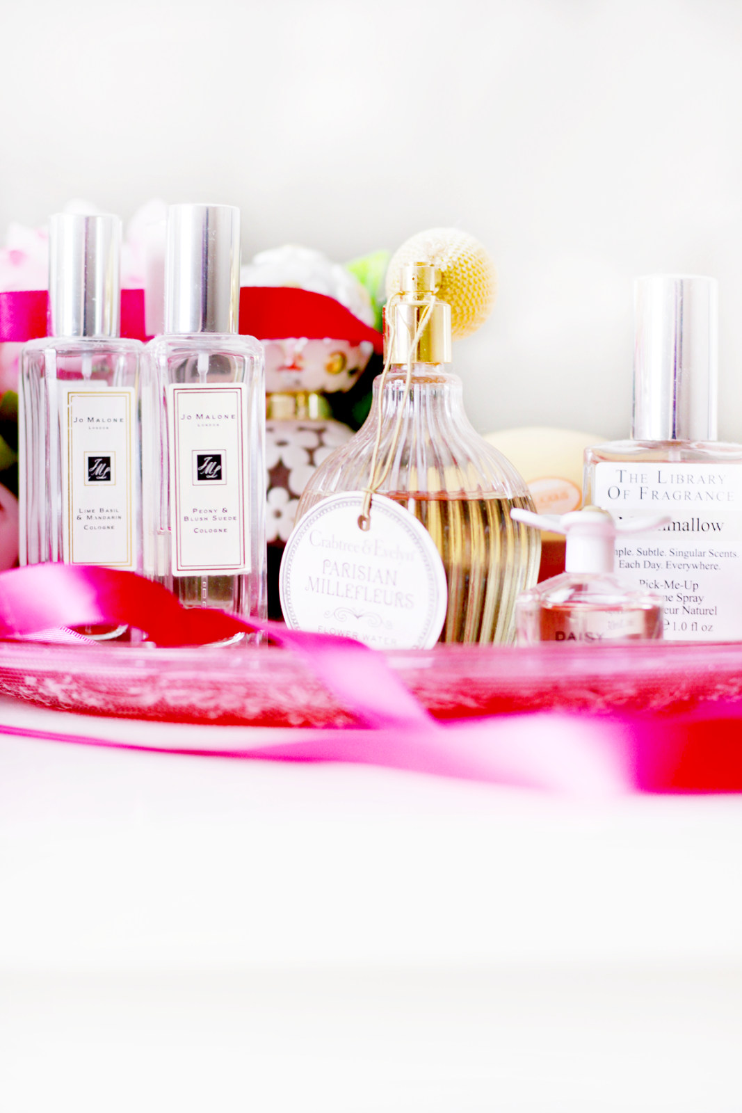 An image of my spring fragrance collection