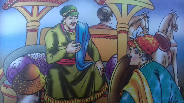 जमीन पर पैर  Akbar Birbal  Hindi Kahani  Kahaniya