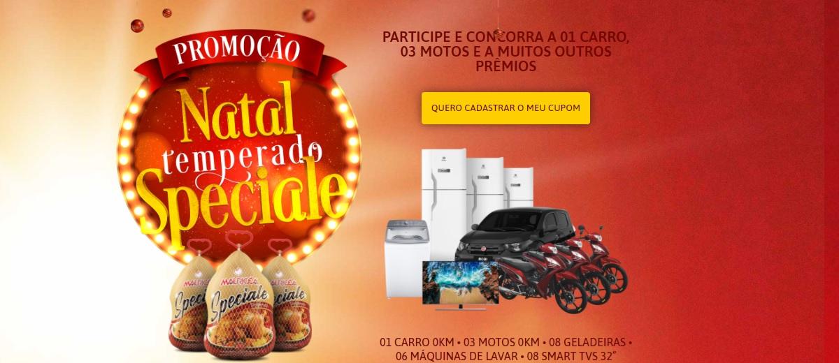 Promoção Mauricéa Alimentos Natal 2020 Temperado Speciale - Carros, Motos e Prêmios