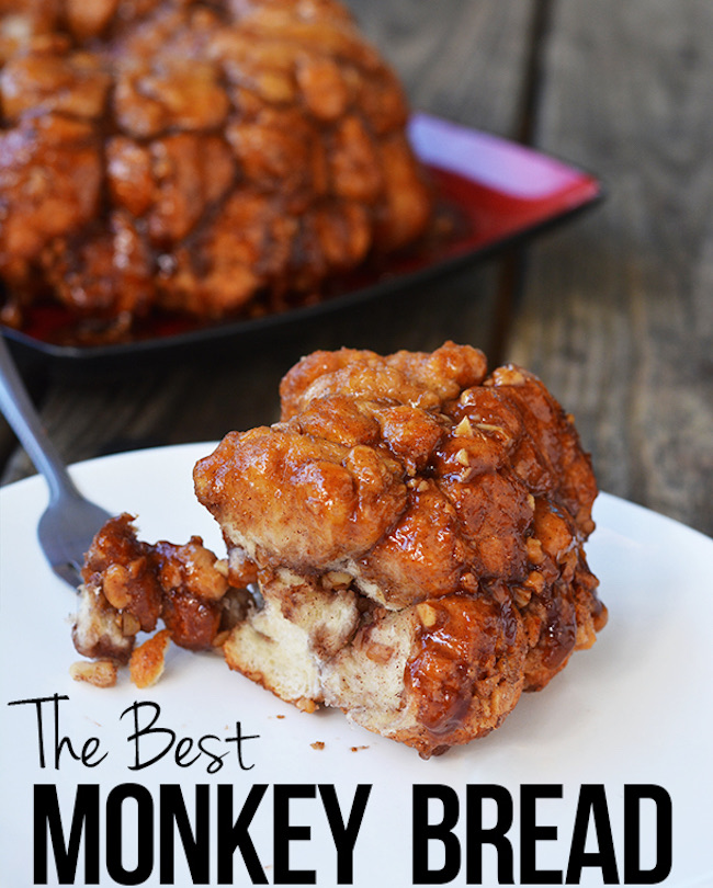 Easy Monkey Bread Recipe by I Heart Nana's Cooking featured at Pieced Pastimes
