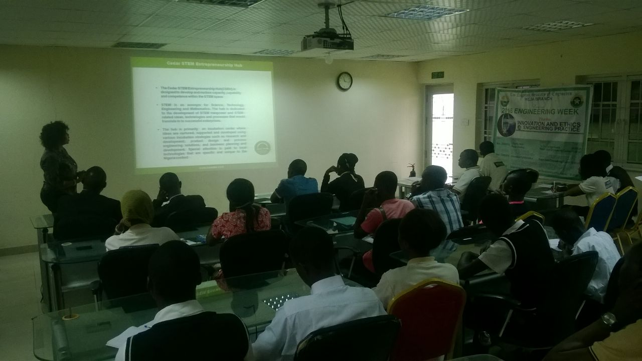 NSE Ikeja Branch Engineering Week Day 2: Engineers Guide toward Entrepreneurship and self reliance