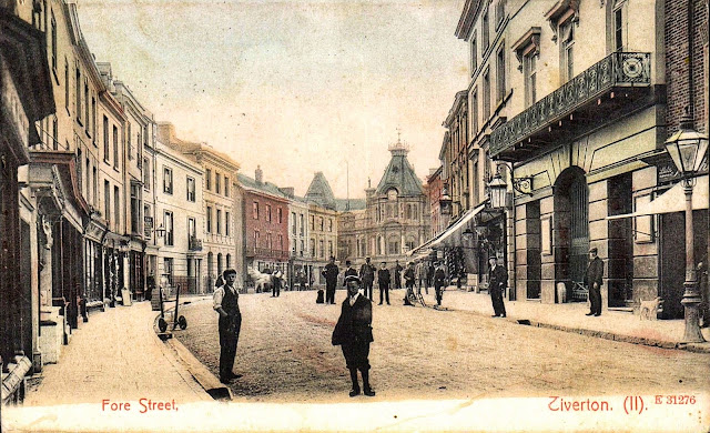 Postcard of Fore Street - Looking West c.1906