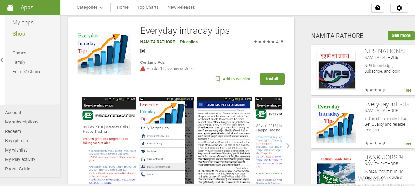 Everyday Intraday Tips: New Updated App
