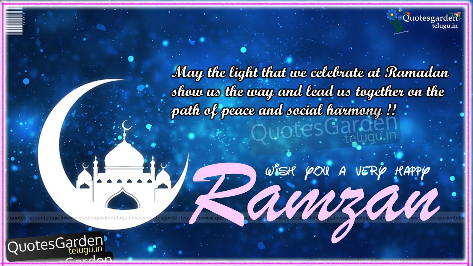 Happy Ramadan Greetings Wishes Messages Quotes Garden