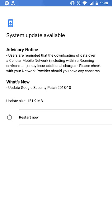 Nokia 6 October 2018 Android Security update