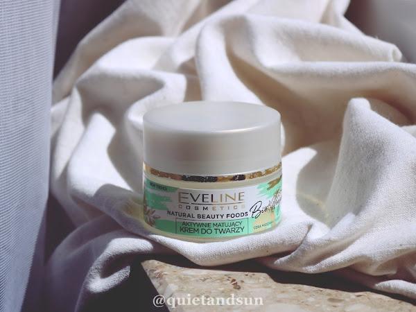 Eveline, Natural Beauty Foods Bio Vegan, Aktywnie matujący krem do twarzy