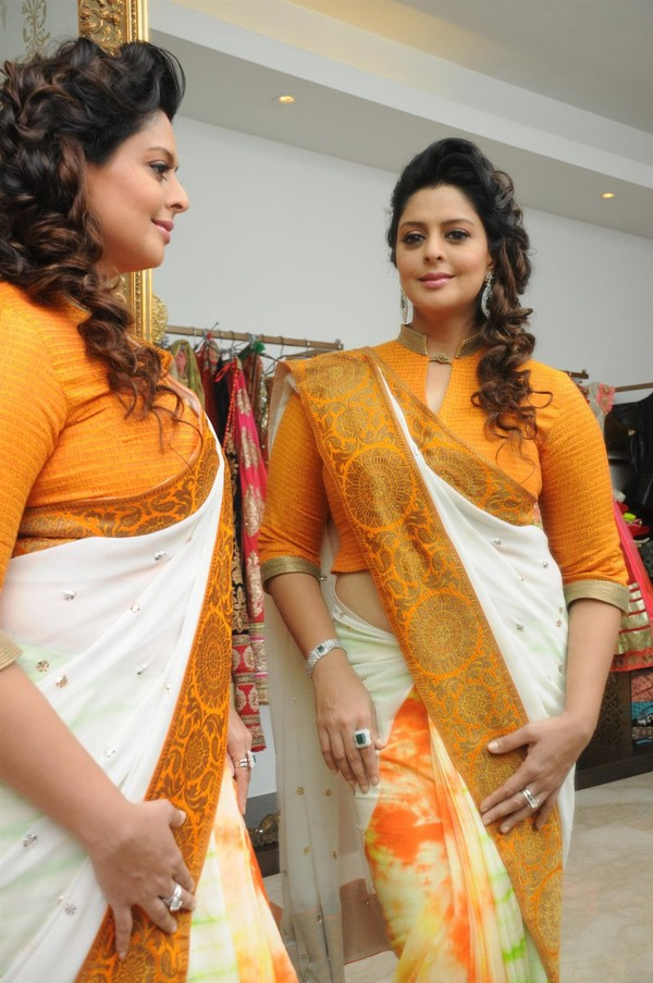 Hindi Actress Nagma Latest Photos In Yellow Saree