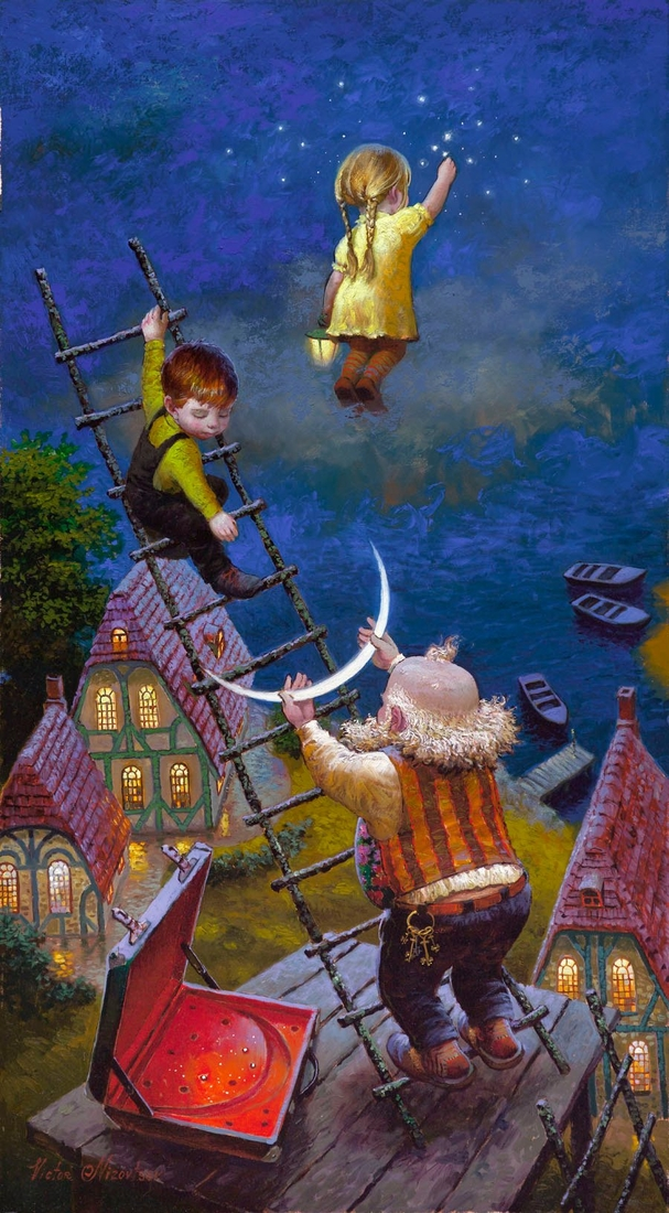 13-Wish-Upon-a-Star-Victor-Nizovtsev-Daydreaming-with-Fantasy-Oil-Paintings-www-designstack-co