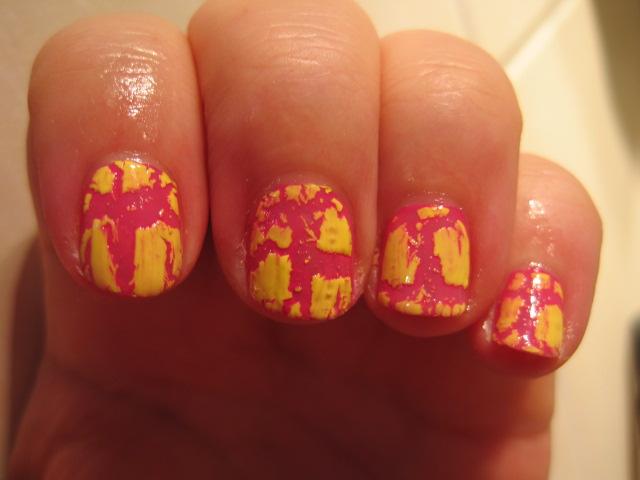 Isa dora, pękające, różowe paznokcie, różowo-żółty