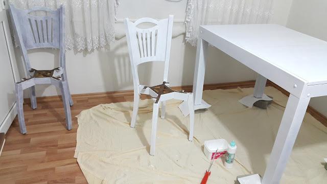 Masa, Sandalye ve Sehpa Boyama