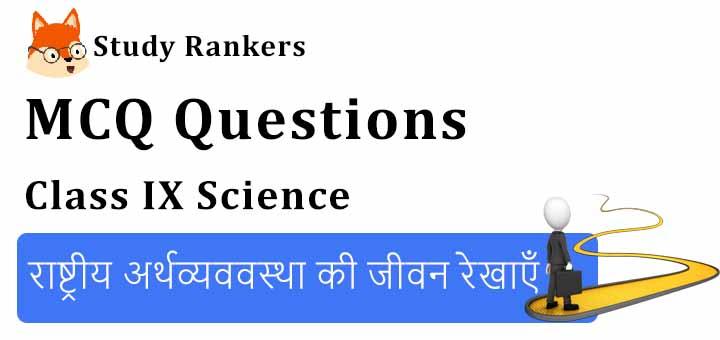 MCQ Questions for Class 10 Geography: Chapter 7 राष्ट्रीय अर्थव्यववस्था की जीवन रेखाएँ