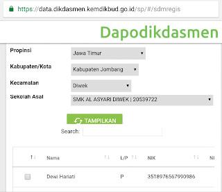 Tarik GTK Online Dapodik 2019