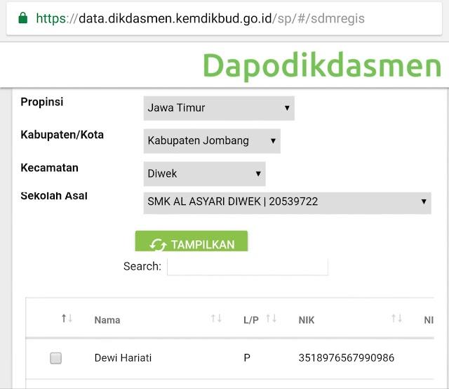 Tarik Gtk Online Dapodik 2019 Melalui Handphone