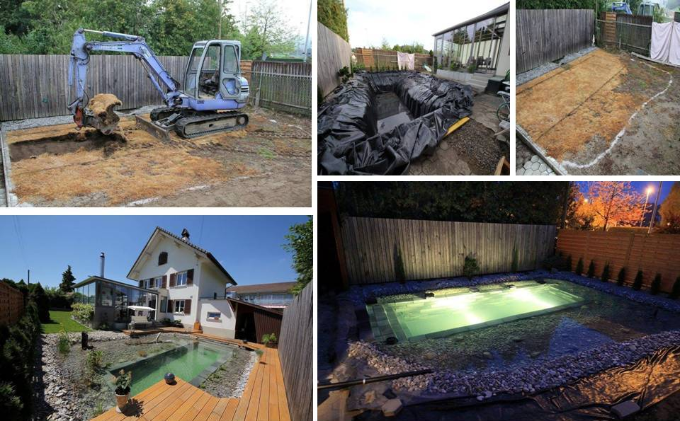 Affordable Low Budget Homemade DIY Swimming Pool in Your Backyard ...