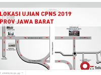 Peta Lokasi Ujian CPNS 2019 Jawa Barat