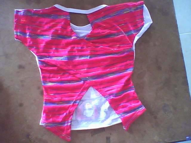 blusa cruzada en espalda para niñas