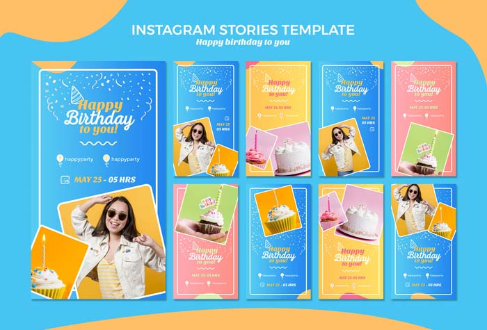 Happy Birthday Instagram Stories Template